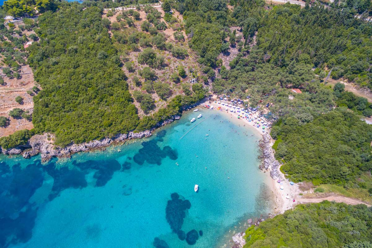 ionian sivota rent car bike excursions parga zavia beach