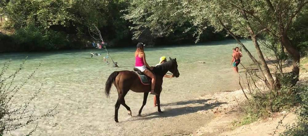 ionian coast sivota activities gluki horseriding