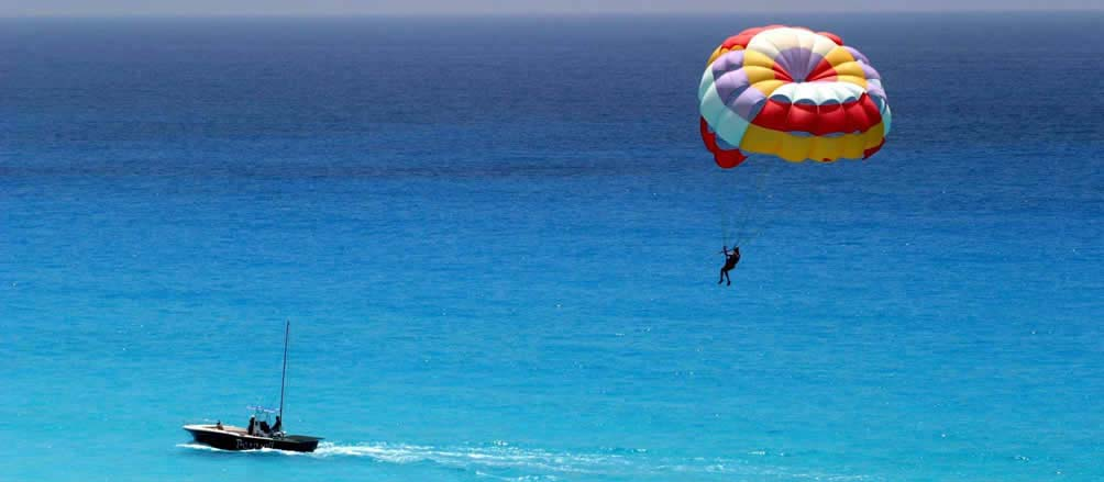 ionian coast sivota activities parasailing