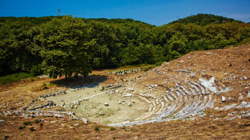 ionian coast sivota excursions archaeological gitana ancient theatre