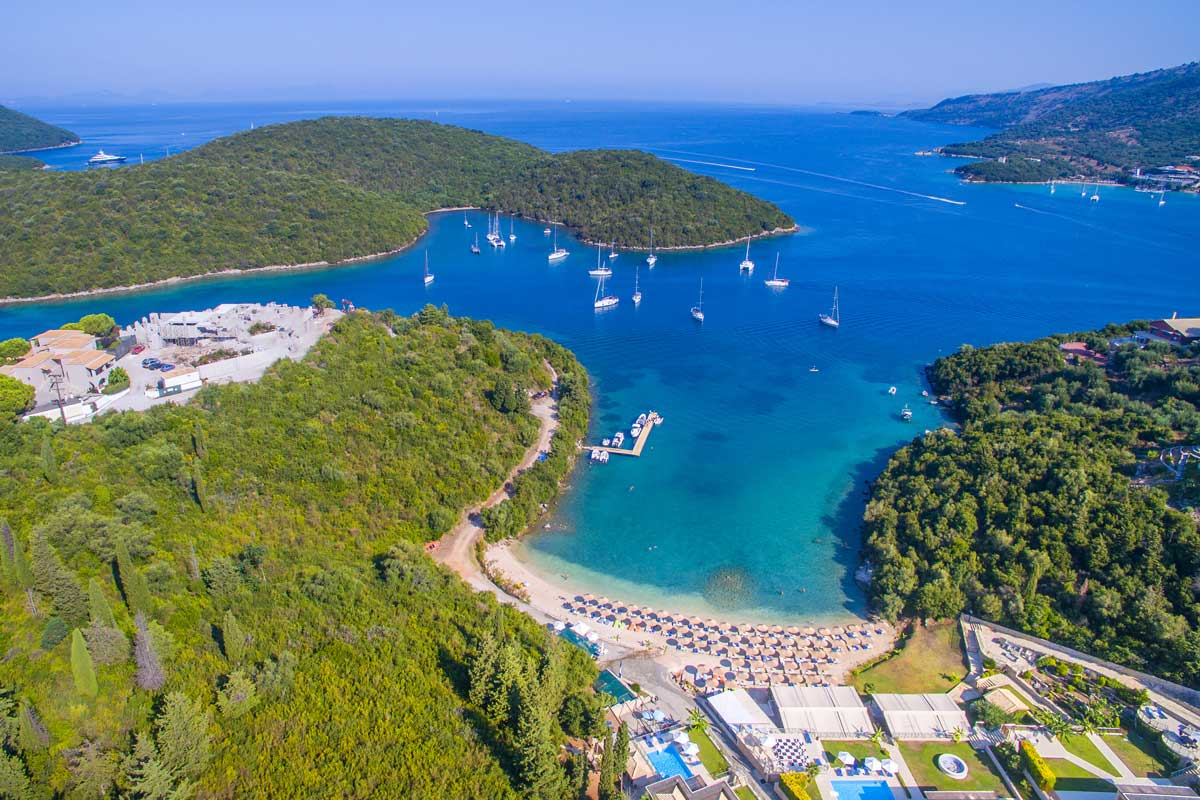 ionian sivota rent car bike excursions parga carvouno beach